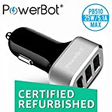 (CERTIFIED REFURBISHED) Powerbot PB510 5.1A Turbo Car Charger (Black)