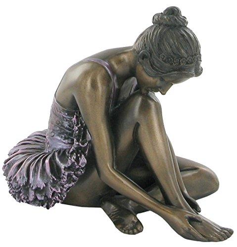 Preparing, Cold Cast Bronze Ballerina Sculpture by Beauchamp Bronze by SC Leisure -