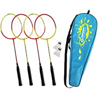 Schildkrot Fitness Unisex Adult Badminton 4-players Set - Multicoloured, Medium