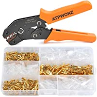 ATPWONZ Terminales Eléctricos de Crimpado Kit - 150pcs Terminales Aislados Multi-tamaño 0.14-1.5mm²/26-16WAG