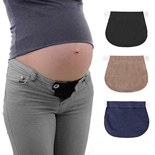 Healifty-Erweiterung für Schwangerschaftshosen, individuell verstellbar, Inhalt: 3Stück