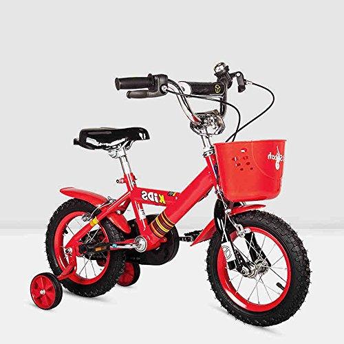 HAIZHEN Kinderfahrräder Kinderfahrrad Kinderwagen 12/14/16 / Zoll 3-6-8-10 Jahre alt Mädchen Jungen Fahrrad Bunt multicolor für 2-10 Jahre alt ( Farbe : Rot , größe : 12 inch )