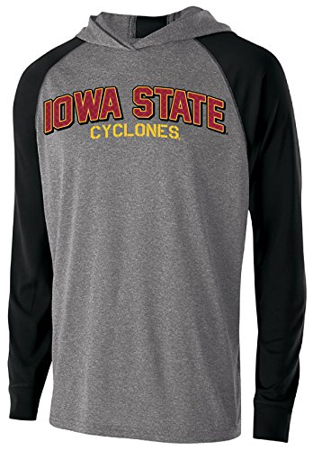Ouray Sportswear NCAA Iowa State Cyclones Men's Echo Hoodie, X-Large, Graphite/Black Motion Zip-jacke