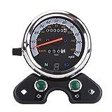 -Velocímetro Moto Universal 12V tacómetro de Velocidad Doble Velocidad Tach Distancia Calibre medición indicador de Velocidad assemblé retroiluminación Pantalla Digital Instruments Moto