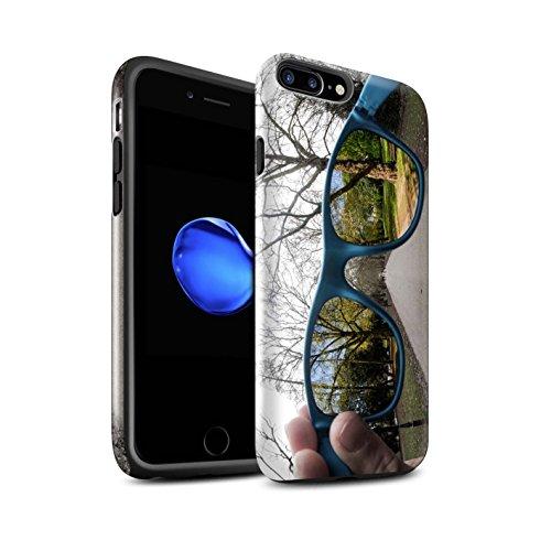 STUFF4 Glanz Harten Stoßfest Hülle / Case für Apple iPhone 7 Plus / Lust Tasse Tee Muster / Vorstellen Kollektion Feder Gefederten