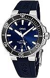Oris Men's Aquis 43.5mm Blue Rubber Band Automatic Watch 01 733 7730 4135-RS65