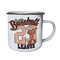 Junior Baseball League 23 Team Retro,Tin, Enamel 10oz Mug aa555e
