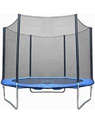 Filet de sécurité pour trampoline 245cm ,305cm , 366cm , 396cm ,430cm (6 8 10 12 13 14 FT) inclus entrée de fermeture double avec fermeture éclair et boucles (Dimensions à choisir)-- Sans Coussin de Ressorts ,Filet de protection seulement