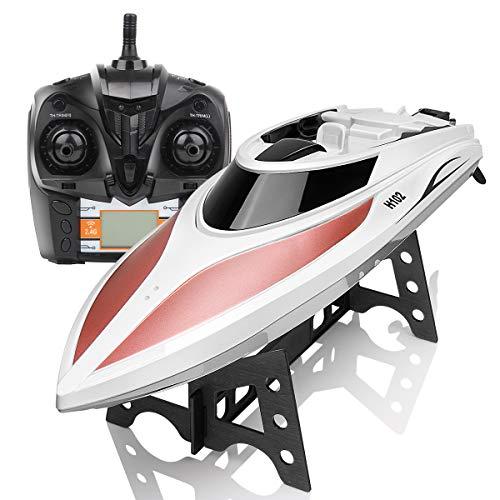 DoDoeleph RC Boot SYMA Schnell Boot 2.4GHz Fernbedienung Spielzeug High-Speed Racing Boot mit Starke Kraft für Anfänger und Kinder