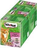 Kitekat Alimentación para gatos Alimentación para adultos para gatos adultos Mix en mercado en salsa, bolsa 48 (2 x 24 x 100g)