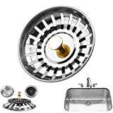 Safekom Premium Kitchen Sink Replacement Drain Waste Plug Basin Filter Strainer Drainer Stainless Steel Bathroom Shower Basket Stopper - 1 Year Warranty Free & Fast Same Day Dispatch UK Seller