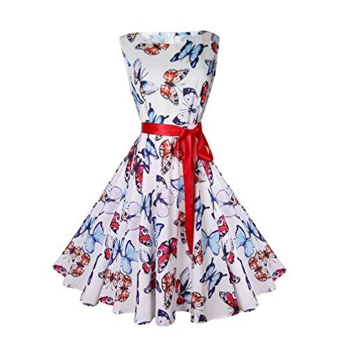 Vectry Kleider Damen Kleid Brautjungfernkleid Petticoat Lange Kleid Sommer Jumpsuit Kurz Ballkleid Kleiderbügel Über Dem Knie - Vintage Bodycon Lässige Retro Abend Prom Swing (S, I-H) (70 Fashion Kleid)