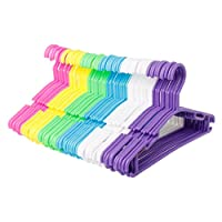 Youliy 10Pcs Hangers,Non Slip Plastic Kids Plastic Coat Hangers Child Baby Clothes Stands Multi Color