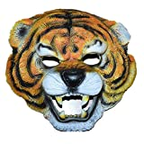 Namgiy - Máscara de Halloween para Hombre, Disfraz, Disfraz, Cosplay, Adultos, máscara de Goma, Forma de Tigre 22,5 x 22 cm