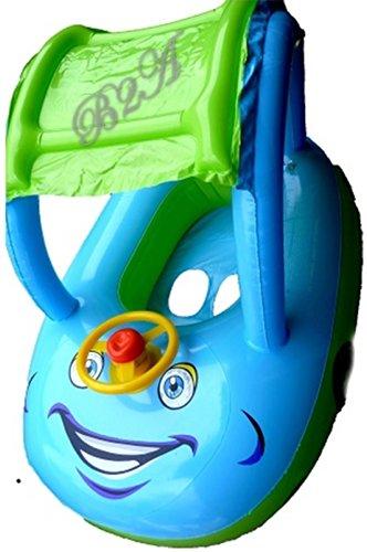 Blau Green Castle Baby-Schwimmen Boot / schwimmen Sitz mit Lenkrad und Steuerrad, New Baby