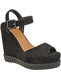 Sandales plateforme - semelle compensée haute - bride cheville - été - femme