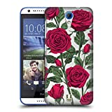 Head Case Designs Rote Variante Rosen Und Wildblumen Ruckseite Hülle für HTC Desire 620/620 Dual SIM