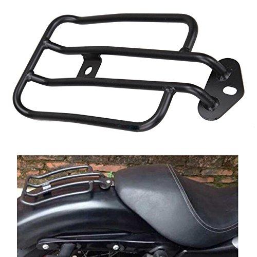 Ambiente schwarz Motorrad Gepäckträger Solo Sitz Gepäckträger vergoldet Gepäckregal für Harley Sportster XL 883 1200 77-0073 77-0073-B (Motorrad-solo-sitz)