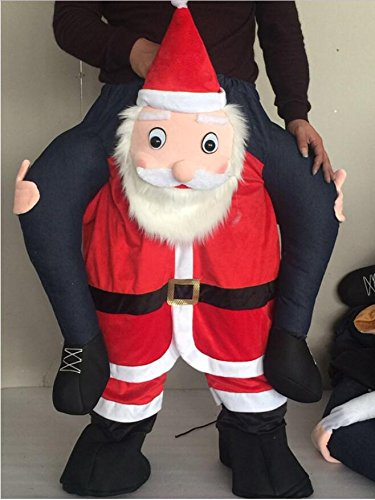 Xmas Santa Oktoberfest Kerstmis  Ride Me Stuffed Dragen Adult Fancy Dress ()