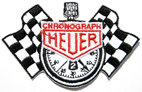 Preisvergleich Produktbild TAG HEUER Armbanduhr CHRONOGRAPH Checkered, Union Jack, Biker Racing Car Motorcycles Motogp Motorcorss Logo Jacket Iron Embroidered Sew on Patches
