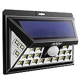 [Versión Actualizada]Mpow Enchapado Lámpara Solar al Aire Libre, Luz de Pared Solar Súper Seguridad Brillante con Sensor de Movimiento 24 LED para Patio, Garaje, Jardín, Balcón, RV