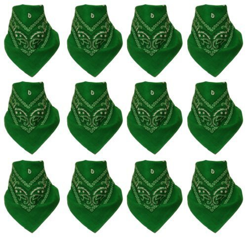 pack-of-12-bandana-with-original-paisley-pattern-in-green
