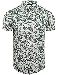 Brave Soul Mens Hawaiian Leaf Print Shirt by Zarb'