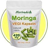 Moringa 250 VEGI Kapseln á 420mg - 100% Vegane ÖKO Rohkost (1x250)
