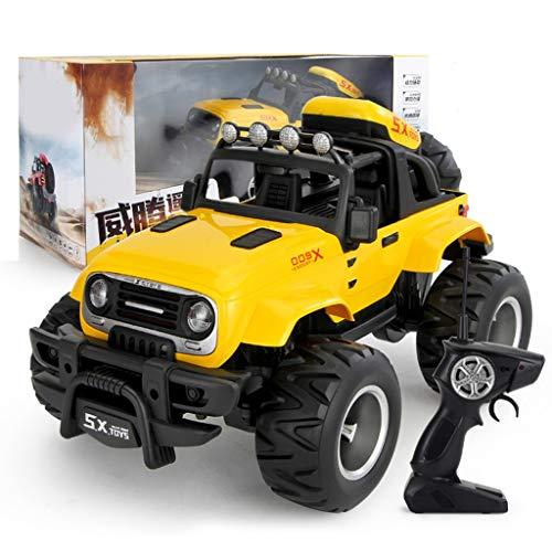 RC-Auto , Hochgeschwindigkeitsrennen Monster Truck , 4WD Rock Crawler Off-Road-Dünen-Buggy , 2.4G-Fernbedienung Auto-Spielzeug (Color : Yellow)