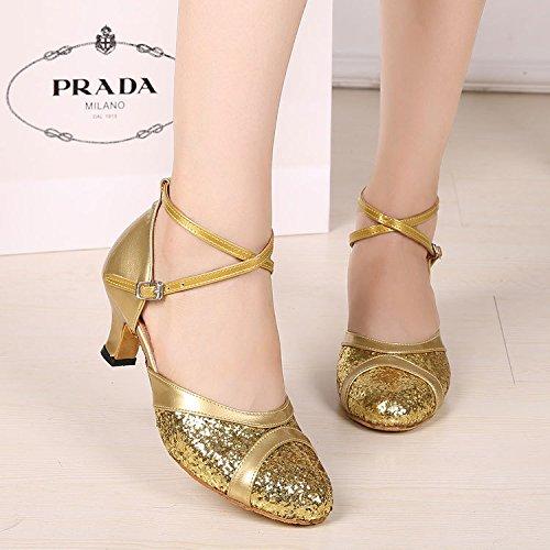 Dgsa Schuh Kim Dance Tanz Outdoor Standard Flash Shoe Gummi Moderner Latin Square Silber ffwqrAT