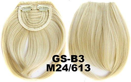 # 24 _ 613 m 100% fibre synthétique haute température Clip dans/sur cheveux avant frange frange cheveux
