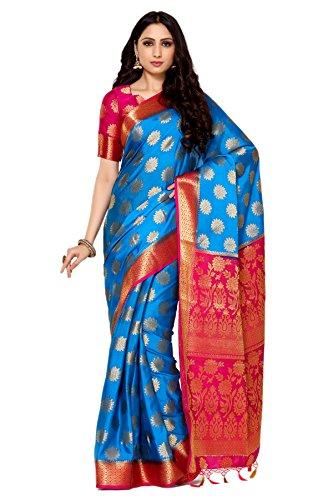 Mimosa By Kupinda Women's Crepe Saree Kanjivaram Style (Latest Designer Sarees /Party wear sarees /New collection sarees Color