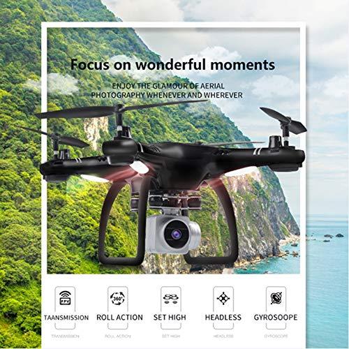 SEXTT Drohne, Fernbedienung für Flugzeuge Ferndrohne GPS 1080P HD WLAN-Verbindung Echtzeit-Bildübertragung FPV-Quadcopter, Aufhängung Schwenk/Neigung 360 ° Flip -