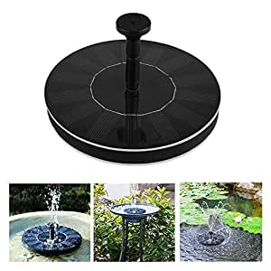 Soledi Solar Panel Water Floating Pump Fountain Garden
