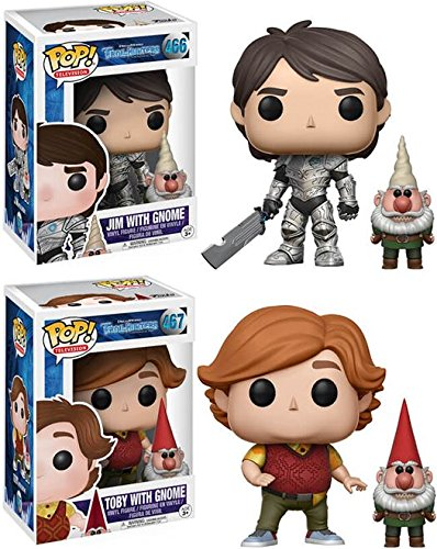 Funko POP Trollhunters Jim with Gnome Toby With Gnome Stylized Vinyl Figure Bundle Set NEW