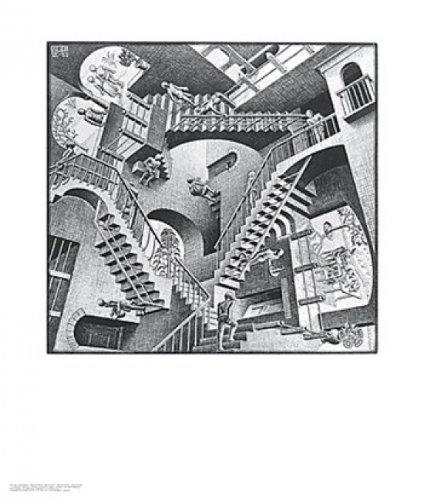 M.C. Escher – Relativität Kunstdruck (55,25 x 64,77 cm)