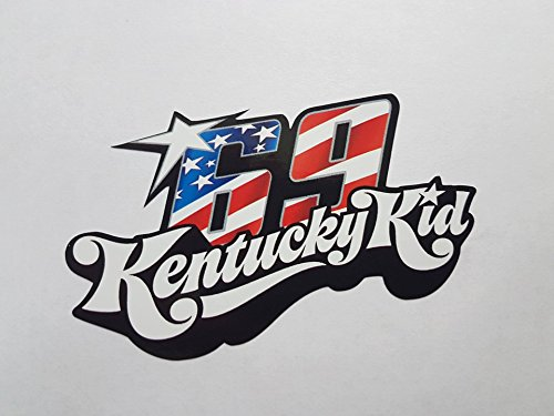 Nicky Hayden 69 Kentucky Kid Motogp Weltmeister Aufkleber Sticker Decal Logo Auto Bike Car Helm (Kid-bike-helm-auto)