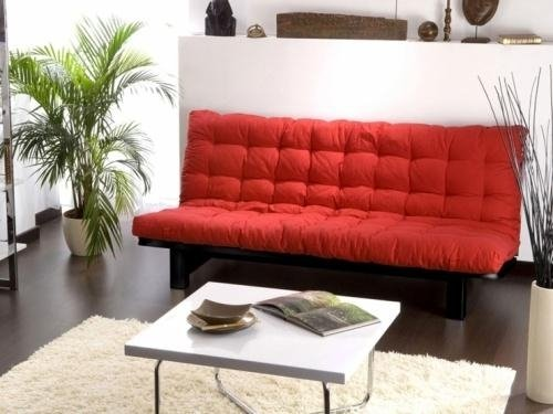 Cuscino-materasso-futon-cotone-rosso-divano-letto-clik-clak-bianco-FUTON