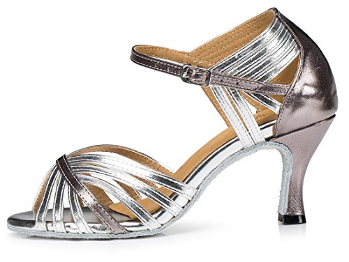 TDA , Peep-Toe femme 7.5cm Heel Silver