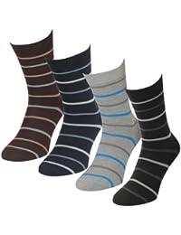 12 24 oder 36 Paar Herren Freizeit Business Socken mit Ringeln Lavazio