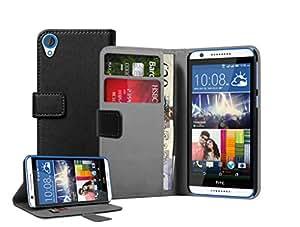 Membrane - Noir Portefeuille Etui Coque HTC Desire 820 - Wallet Flip Case Cover Housse