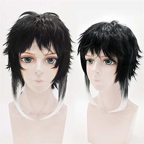 LanTing Cosplay Perücke Bungou Stray Dogs Ryunosuke Akutagawa Black Mix Cosplay Party Fashion Anime Human Costume Full wigs Synthetic Haar Heat Resistant Fiber (Little Mix Halloween Kostüme)