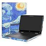 Alapmk Specialmente Progettato PU Custodia Protettiva in Pelle Per 15.6' HP Envy x360 15 15-bpXXX 15m-bpXXX/15m-bqXXX 15-bqXXX Series Notebook,Starry Night
