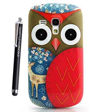 GSDSTYLEYOURMOBILE {TM} MOTOROLA MOTO G SILICONE SKIN GEL PROTECTION CASE COVER + STYLUS (Owl Face With Deer)
