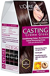 LOreal Paris Casting Creme Gloss, Iced Chocolate 415, 87.5g+72ml with Ayur Product in Combo