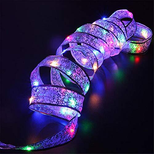 Gaddrt Lichterkette mit 40 LEDs, 4 m, Polystyrol metall holz, mehrfarbig, 50 LED Beads(5m)