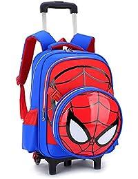815cefd0ab8715 Gucili Trolley Zaini per Bambini, Borsa da Scuola Spiderman A Cartoni  Animati, Zaino da