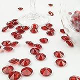 Deko-Diamanten 12 mm dunkelrot 100 Stück - Streudeko Deko Steine