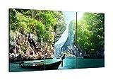 Bild auf Leinwand - Leinwandbilder - Drei Teile - Breite: 105cm, Höhe: 70cm - Bildnummer 2787 - dreiteilig - mehrteilig - Zum Aufhängen Bereit - Bilder - Kunstdruck - CE105x70-2787
