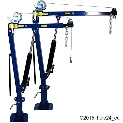500 Kg Ladekran mit Seilwinde in blau Test